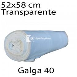Bolsas basura 52x58 cm 25 uds transp. galga 40
