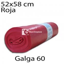 Bolsas basura 52x58 cm 25 uds rojo galga 60
