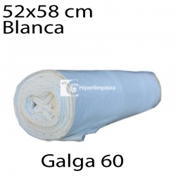 Bolsas basura 52x58 cm 25 uds blanco galga 60