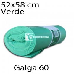 Bolsas basura 52x58 cm 25 uds verde galga 60