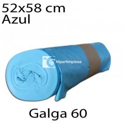 Bolsas basura 52x58 cm 25 uds azul galga 60