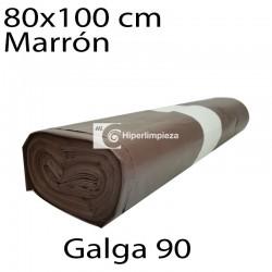 Bolsas basura 80x100 cm 10 uds marrón galga 90