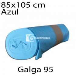 Bolsas basura 85x105 cm 10 uds azul galga 95