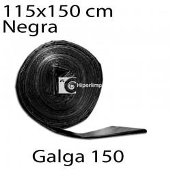 Bolsas basura 115x150 cm 10 uds negro galga 150