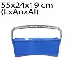 Cubo cristalero con asa 10 L azul