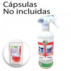 copy of Botella HP transparente 1L con pulverizador azul