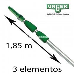 Tubo telescópico Unger Optiloc 3 tramos 1,85 m