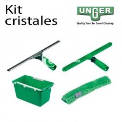 Kit para limpieza de cristales Unger